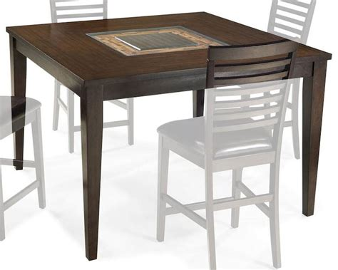 intercon solid wood counter height dining table kashi