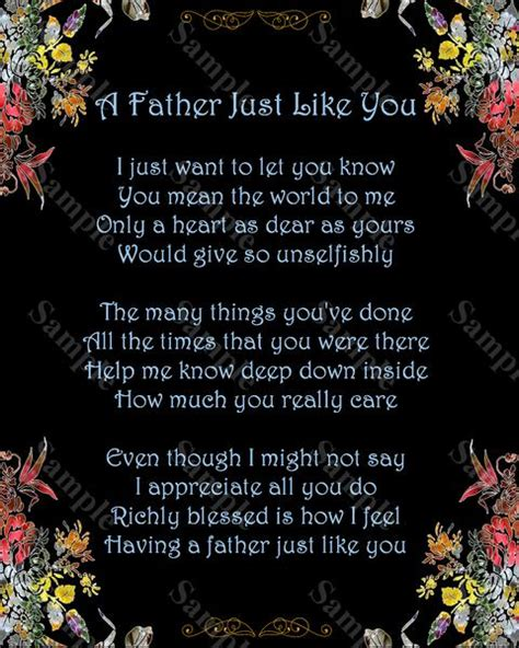 Fathers Day  Ee  Gift Ee   A Father Just You Poem  Ee  Gift Ee   For Dad