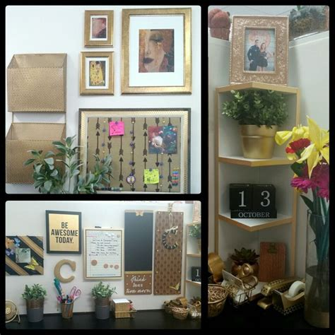 cubical decor cubicle decor chic and cheap desk collage gold black