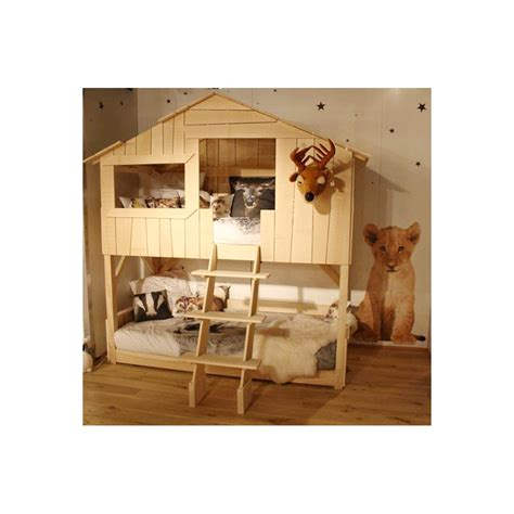 treehouse bunk beds treehouse bunk bed in pine mdf cuckooland