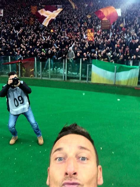 Kaos Selfie I M Goalkeeper soccer player totti takes a selfie to celebrate goal