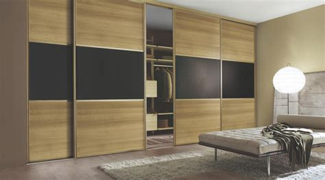 walnut black sliding wardrobe doors