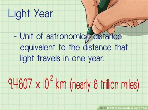 One Light Year In Miles How To Calculate A Light Year 10 Steps With Pictures
