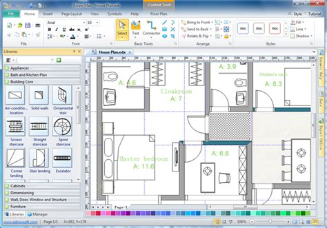 free home blueprint software house plan software edraw