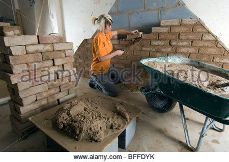 Plumbing Courses Brighton by Student Learning Practical Bricklaying At Quot City College Stock Photo Royalty Free Image