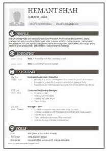 1 Page Resume Exles by 10000 Cv And Resume Sles With Free One Page Excellent Resume Sle For Mba