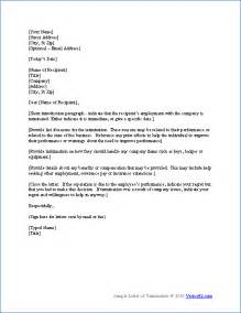Free termination letter template sample letter of termination