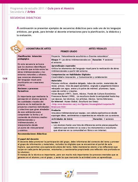 didactica para maestro by mauricio sanchez issuu gu 237 a para el maestro educaci 243 n b 225 sica secundaria artes