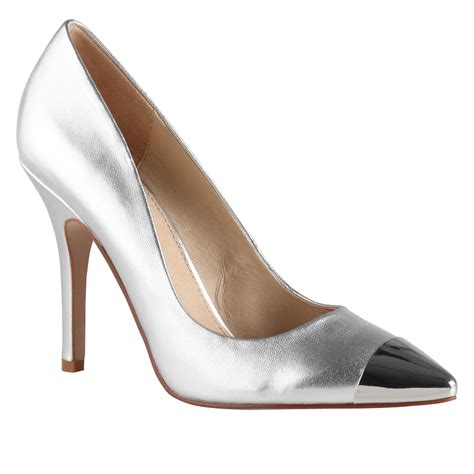 Silver Shoes by Lyst Aldo Essi Metal Toe Cap Court Shoes In Metallic