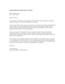Sle Reference Letter For Student Volunteer by Doc 728942 Letter Of Reference Sle Volunteer Work Cover Letter Templates Bizdoska