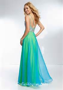 elegant one shoulder long yellow green chiffon layered beaded prom dress with slit straps