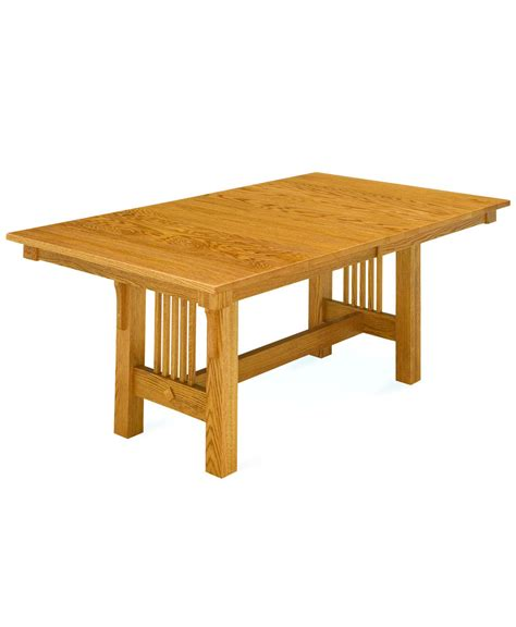 trestle and chairs trestle mission dining amish direct furniture