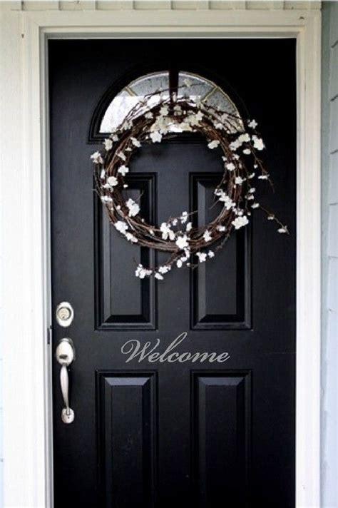 Front Door Decals Welcome Front Door Entry Sign Decal Sticker In Vinyl Item H1