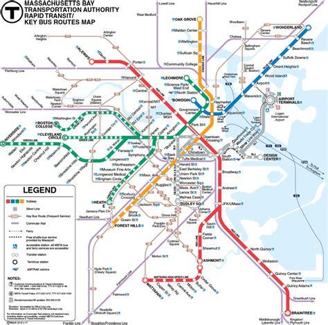 boston metro map mbta boston subway map