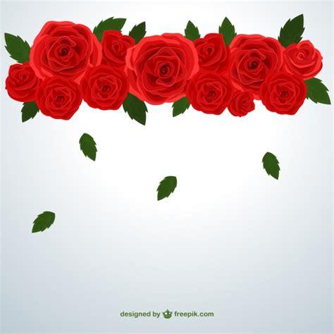 imagenes rosas rojas gratis rosas rojas y las hojas que caen descargar vectores gratis