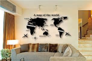 home decoration accessories wall aliexpress buy wall decal world map wall sticker