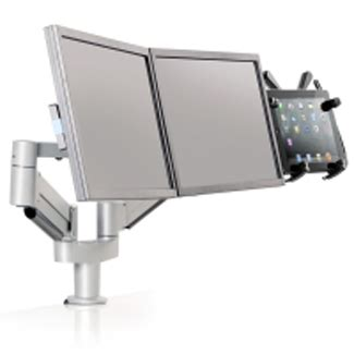 tablet arm with dual monitor desk mount