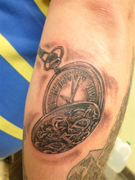 pocketwatch tattoo pocket ideas