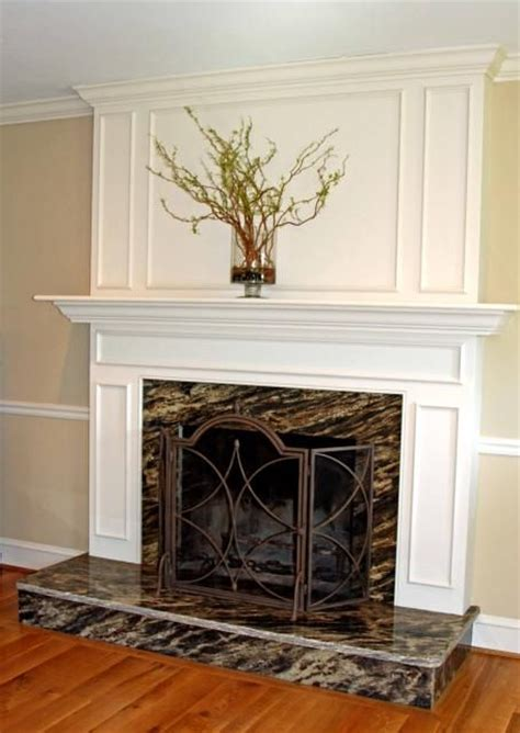 Granite Surround Fireplace by Fireplace Surround With Raised Hearth Black Marble