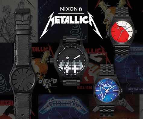 metallica x nixon metallica x nixon メタリカの名盤が腕時計に qetic