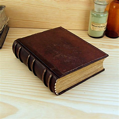 big leather large leather journal blank book brown vintage leather an