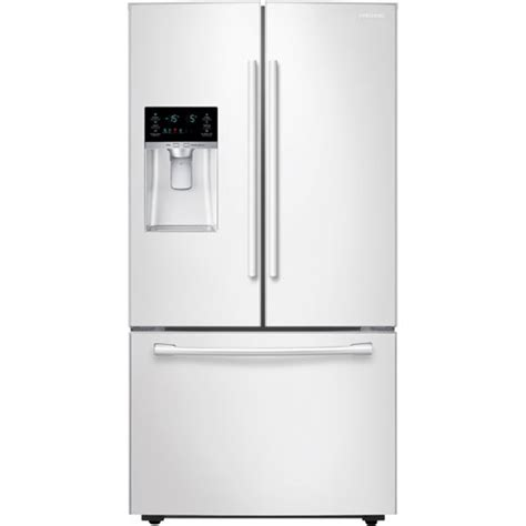 samsung 23 cu ft counter depth door refrigerator samsung rf23hcedbww smooth white 23 cu ft counter depth