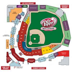 seating map frisco roughriders tickets