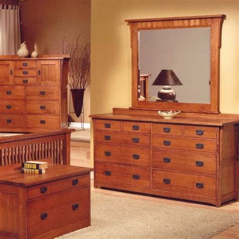 The Trend Manor Mission 10 Drawer Dresser Is Solid Quarter Mission Bedroom Furniture