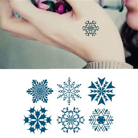 temporary tattoo paper nz tattoo sticker snowflakes pattern waterproof temporary