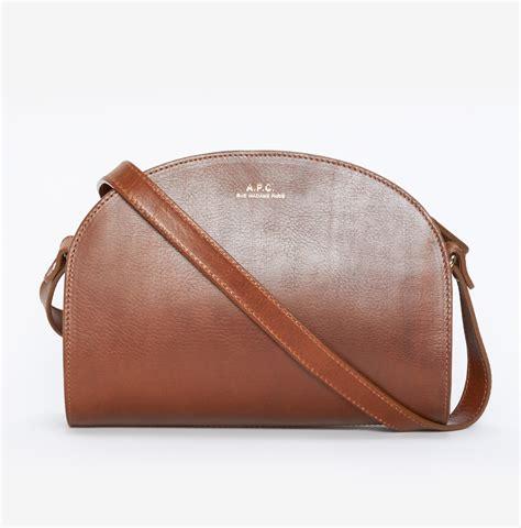 P Da Bag lyst a p c half moon bag in brown