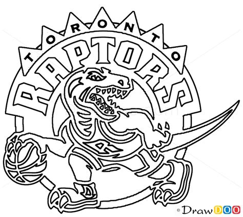 toronto raptors free colouring pages