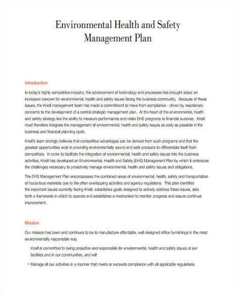 47 Management Plan Exles Pdf Word Pages Ehs Management Plan Template