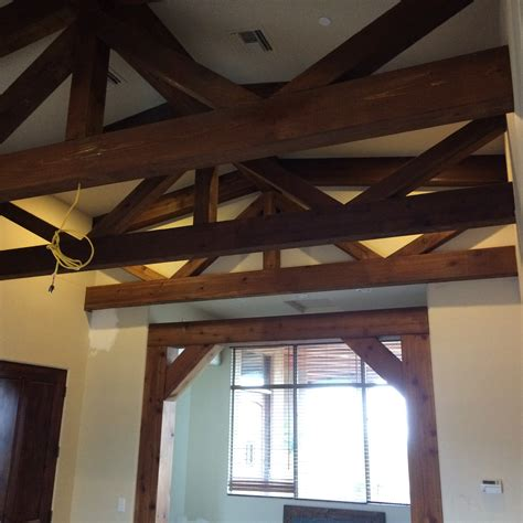 custom decorative cedar box beams from woodland custom timber trusses woodland beam