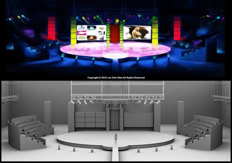 game show layout stage design coloring
