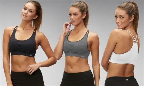 Marika Tek Sport Bra Racer Back seamless two sports bras groupon goods