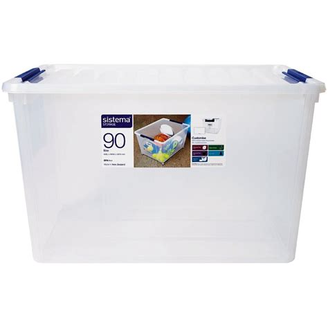 clear plastic drawers nz sistema storage organiser 90l clear the