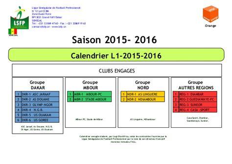 Calendrier L1 2016 Calendrier L1 2015 2016
