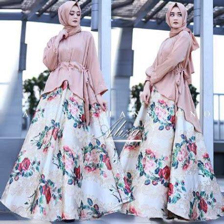 Stelan Kulot Blue 20 model gamis terbaru aliza by agoest hanggono milk brown pusat busana gaun pesta muslim