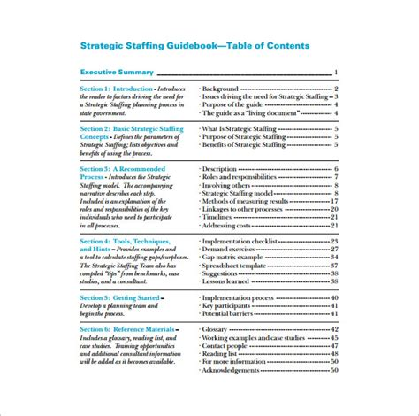 Staffing Plan Template staffing plan template 8 free word excel pdf