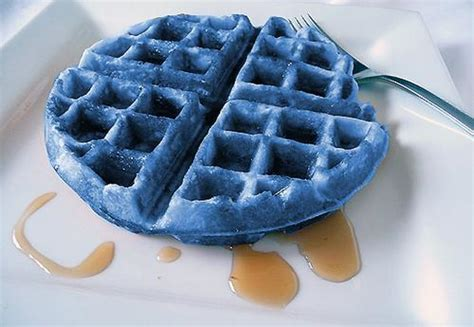 blue colored waffles you been warned