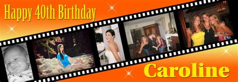 film cinta on delivery angled filmstrip 6 photo birthday banner personalised