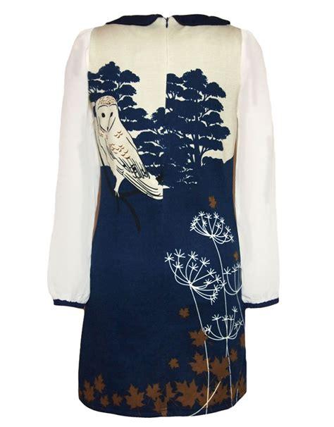 Owl Collar Navy yumi owl print dress navy m born2style fashion store