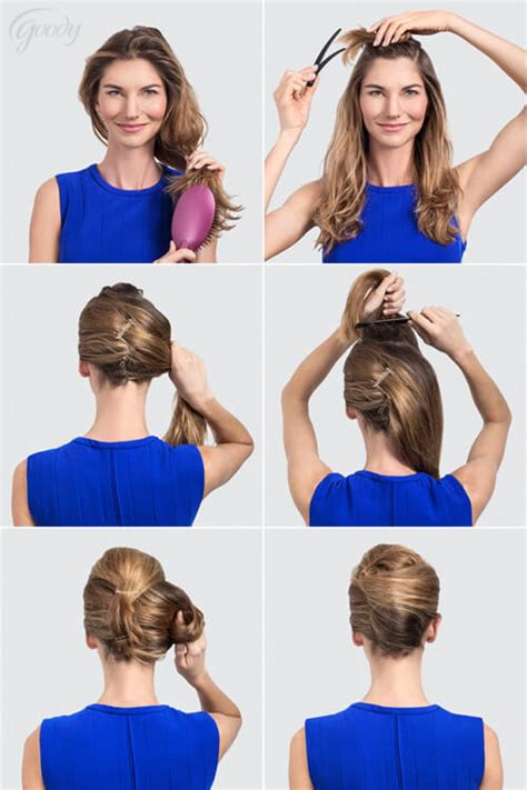 step to step guide on french roll 30 step by step hairstyles for long hair tutorials you