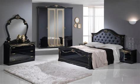 a black and gold 4 door bedroom set italian classic