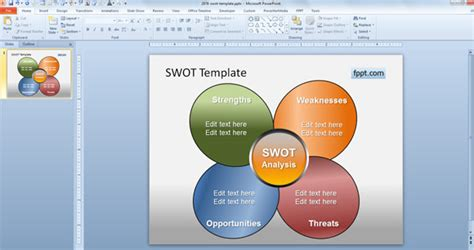 free swot template ideas for powerpoint powerpoint