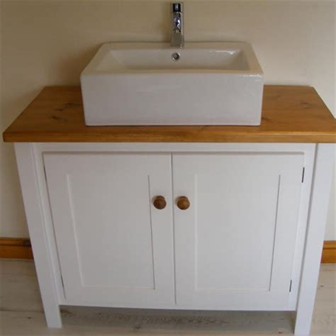 White Bathroom Sink Vanity Units White Vanity Unit With Pine Top Aspenn Furniture
