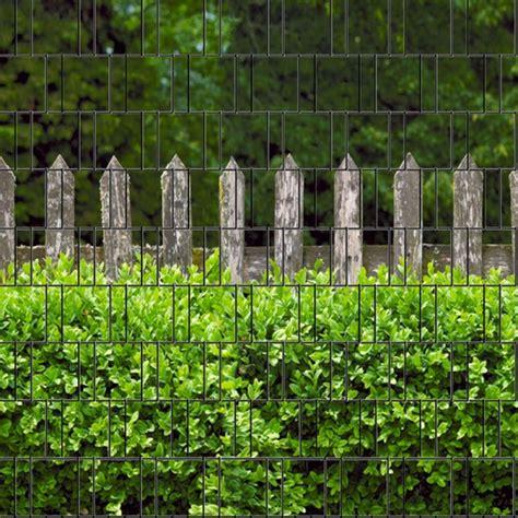 bedruckter sichtschutz garten holzzaun buxus bedruckter zaun sichtschutz