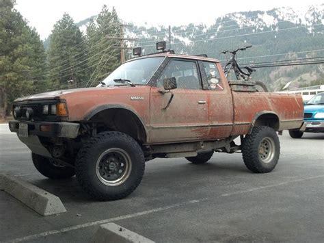 1985 nissan 720 4x4 lifted 1900obo mini truck drawing