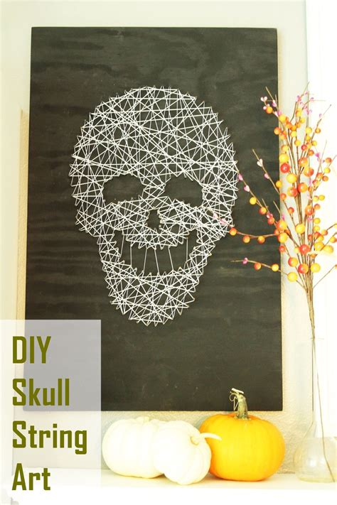 Skull String - smiling and spooky diy skull string