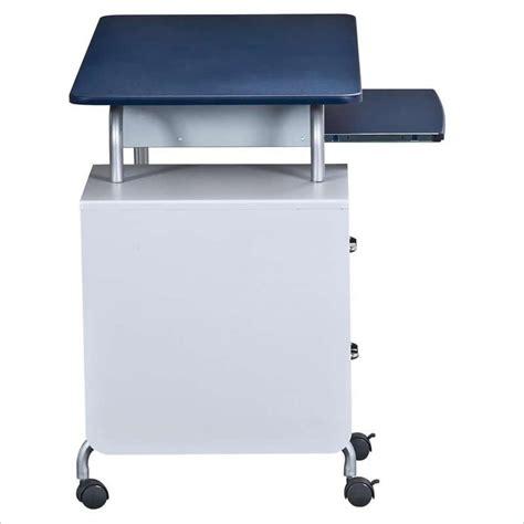 Techni Mobili Wood Student Blue Silver Computer Desk Ebay Blue Computer Desk